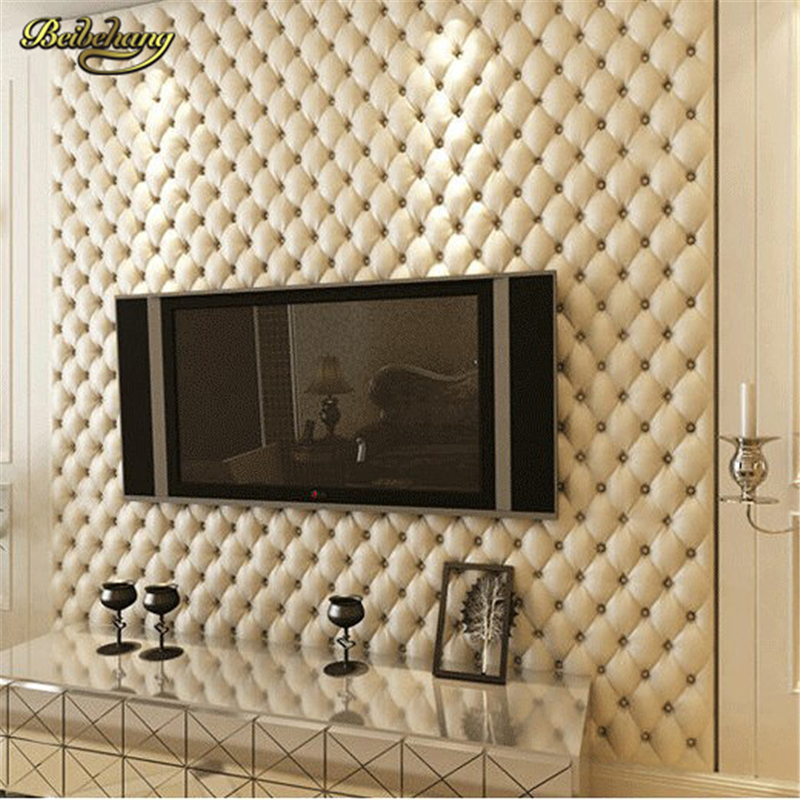beibehang Leather Wall Paper Soft Bag Luxury Super Quality Wallpapers for Living Room TV Background Paper Vintage Home Decor<br>