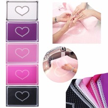 Foldable Nail Art Manicure Practice Tools Silicone Hand Cushion Holder Pad Mat(China)