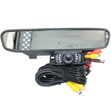 Hot Sale 7 LED Waterproof Night Vision HD Car Camera Monitor + 4.3 inch Car Rear View Mirror Monitor for Parking Backing