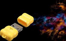 Wholesale Yellow 480 Mbps Mini Single  USB 2.0 Micro SD TF  Memory Card Reader Adapter T10 For Linux For Windows 7 8 For Mac OS
