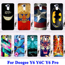 Soft TPU Silicon Cell Phone Case For Doogee Y6 Y6C Y6 Pro Cases Covers Tiger Captain American Painted Housing Bags Shell Hood
