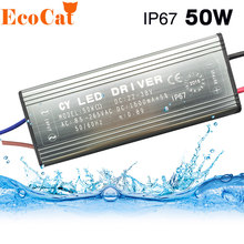 ECO Cat Waterproof 10W 20W 30W 50W 70W LED Driver Adapter Transformer AC100V-265V to DC20-38V Power Supply IP67 For Floodlight(China)