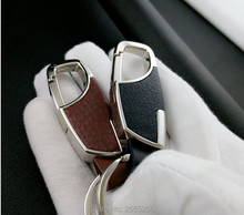 Car styling Fashion Creative Leather Car Keychain Ornament Accessories for Jeep ACURA Chrysler DAIHATSU Hyundai KIA Renault VW
