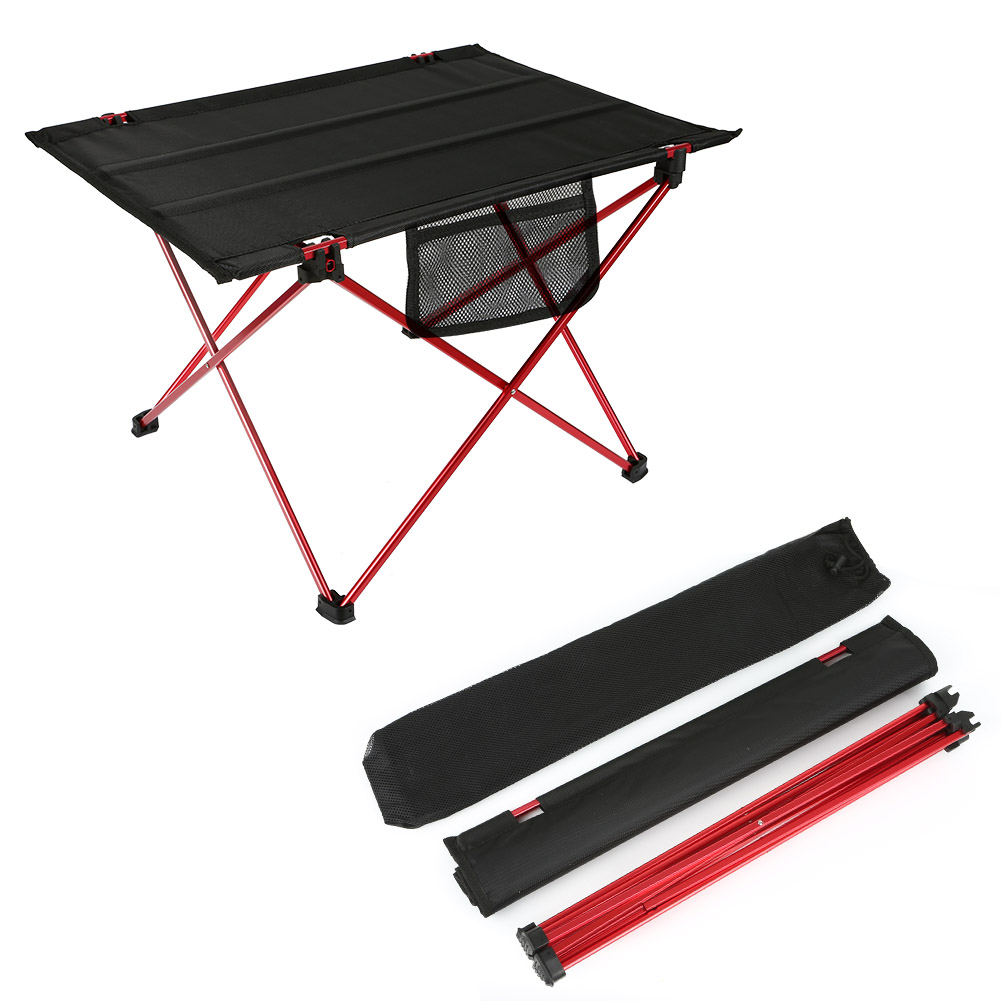 Outdoor Foldable Table Aluminium Alloy Waterproof Ultra-light Durable Desk For Picnic Camping 57x41x37cm TB Sale<br>