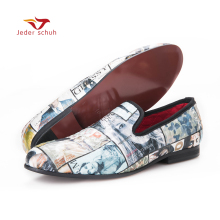 men loafers leisure fashion style magazine pattern matching men shoes men flats party shoes US6-16(China)