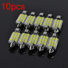 Brand new 10 Pcs/lot 5W 12V 39mm 9 SMD 5630 LED CANBUS Error Free Car License Plate light AUTO Reading dome BULB Lamp door light