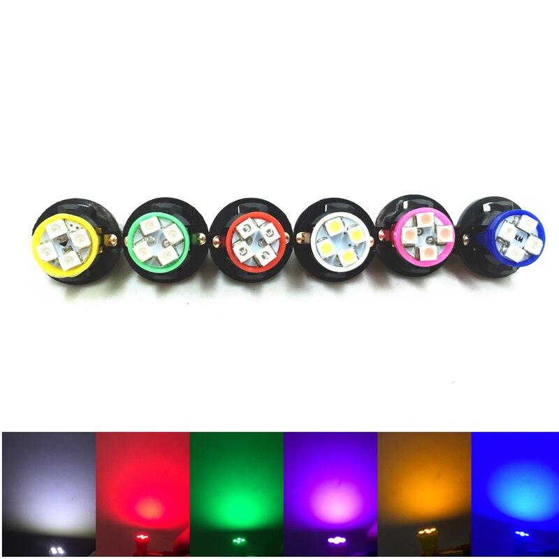 20X Car Dashboard Panel Lights Blue T10 W5W 3528 SMD LED Car Interior Instrument Indicator Lamp 194 168 + Twist Lock Socket<br><br>Aliexpress