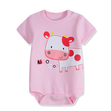 2017 Cotton bodysuits Retail Cartoon Style Baby Girl Boy Summer Clothes New Born Body Baby Ropa Next Baby Bodysuit 3M/6M/9M/12M