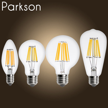 Vintage LED Filament Lamp E27 E14 Real watt 2W 3W 4W 6W 8W Retro Antique Led Edison Bulb Warm White Lampada Led Light Bulbs(China)
