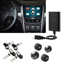 internal wireless android tpms tire pressure monitoring system with 4 intern car tpms bluetooth for Car DVD Player Car DVR