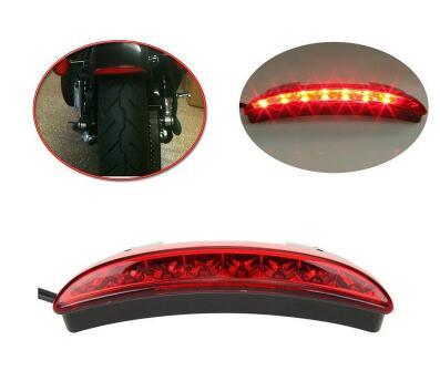 8 Led Motorcycle Racer taillight,motorbike brake lights,rear fender edge warning lights for Harley Sportster XL883/1200<br>