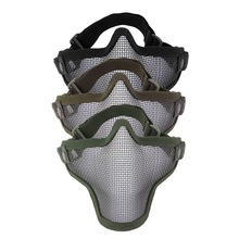 Half Face Metal Steel Mesh Half Face Mask Guard Protect For Paintball Airsoft Game Hunting In Stock