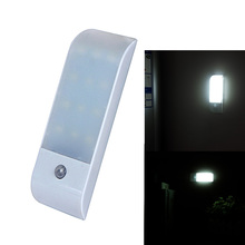 New Paste Style 10ft(3m) IR Infrared Stick-on Rechargeable Wardrobe Night Light Motion Detector LED Sensor Lamp With USB Charger(China)