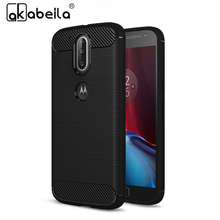 AKABEILA Phone Cover Case For Motorola Moto G4 Case Moto G4 Plus XT1625 XT1622 XT1624 XT1644 Cases Carbon Fiber Brushed TPU