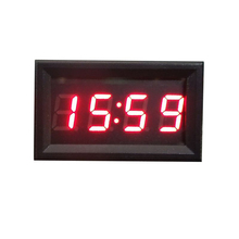 1PC Universal Car Motorcycle Accessory 12V/24V Dashboard LED Display Digital Electric Clock Red &Wholesale