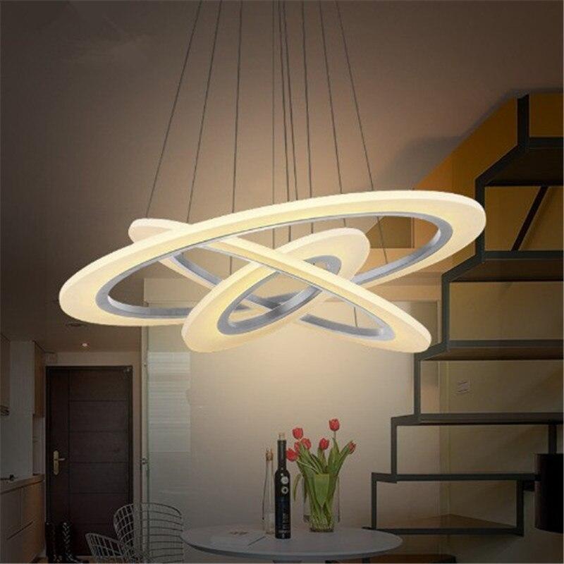 3/2/1 Rings Circles Modern Acrylic LED Pendant lights for Dinning room Livingroom Kitchen lights Aluminaire White Ceiling lamps<br>