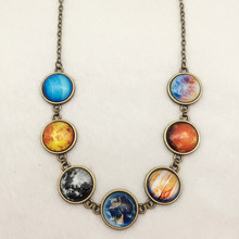 1PCS Solar system necklace, planet necklace,universe necklace,galaxy necklace jewelry