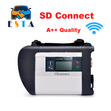 DHL Free High Quality MB STAR C4 SD CONNECT tool support 21 languages SD Compact 4 Diagnostic Tool with WIFI Function SD C4(China)