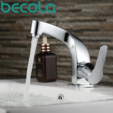 BECOLA Brand design Taps Chrome Mixer Single handle Single hole basin faucet Surface Mounted Bathroom Faucet B-1080M(China)
