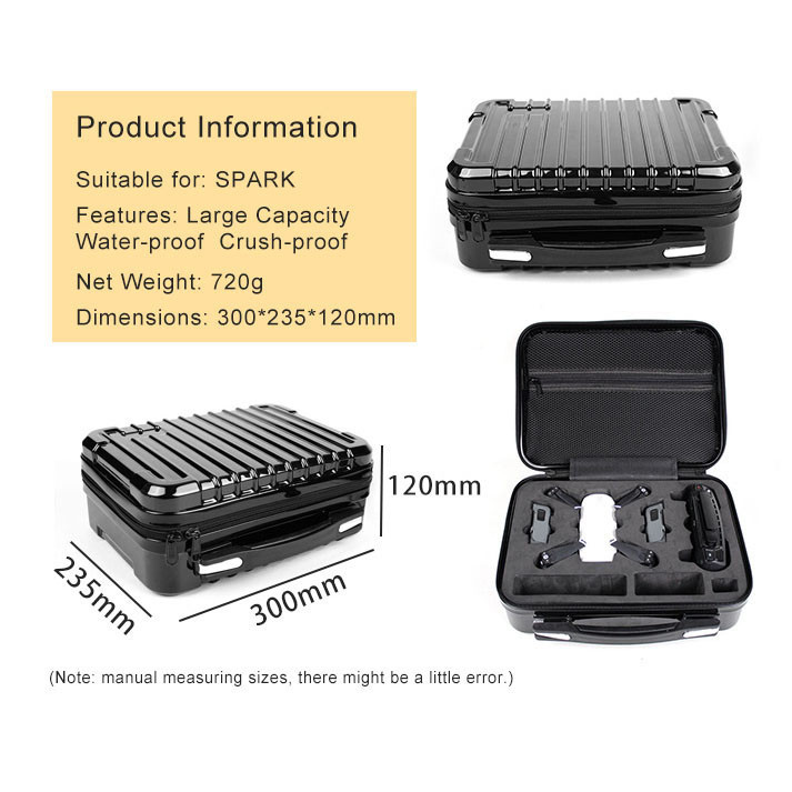 Hardshell Shoulder Waterproof box Suitcase bag for DJI Spark RC Quadcopter drop shipping 0814