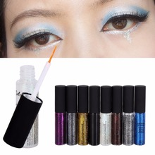 2017 Hot Shiny Powder Water Proof Eyeliner 8 Colors Long lasting Delineador Eye Cosmetic Tattoo