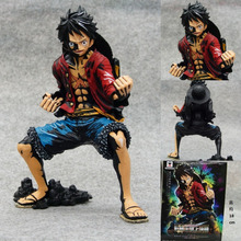 originl 20cm Luffy New PVC Action Anime Figures NEW 1PCS18cm One piece black Monkey D Luffy action figure toys Christmas toy