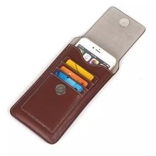 "Vintage Mountaineering Belt Clip Holster Bags Hook Loop Magnetic Pouch Leather Vertical Cover Case For All Phone 5.5"" Below"