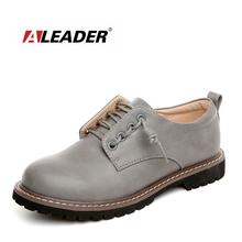 Aleader New Casual Martin Shoes Women Fashion Leather Flats Dress Zipper Design Women Shoe Dating Oxford For Women zapatos mujer