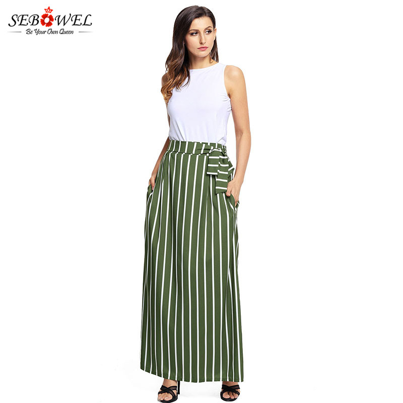 Olive-Green-Striped-Maxi-Skirt-LC65037-9-5