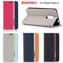 Karribeca flip wallet leather case For xiaomi redmi note 4 colorful tone phone cover redmi Note4 funda coque capas etui puzdra