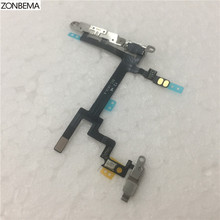 ZONBEMA 5pcs/lot Power switch on off volume flex Cable with Metal Bracket Assembly For iPhone 5(China)