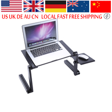 360 degree Adjustable foldable laptop Notebook Desk Table Fan Hole Stand Bed Tray Lapdesks(China)