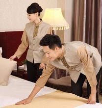 hotel cleaner uniform fashion hotel staff uniform autumn hotel waitress uniform long sleeve hotel clothing