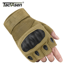 TACVASEN Tactical Gloves Men Half Finger SWAT Combat Military Gloves Army Anti-skid Airsoft Paintball Gloves Hunt TD-YWHX-008(China)