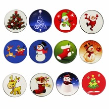 10EA Christmas Golf Ball Markers - Fit Any Magnetic Golf Hat Clip