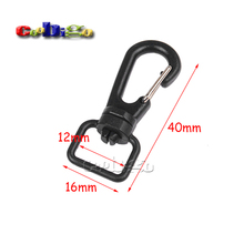 "1/2"" 0.67"" 0.827"" 1"" Plastic Swivel Snap Hook Black For Weave Paracord Lanyard Buckles Backpack Straps Webbing #FLC113-A/B/C/D"