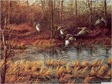 Free shipping Wholesale Price wall home decor pictures,The wild gooses, Reproduction of  archaic oil painting