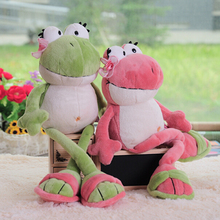 1pc 2016 New Cute Frog Prince Lovely Frog Plush Toy 35cm & 50cm Children Lovers Birthday Christmas Present Fast Shipping(China)