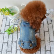 Denim Dog vest Jacket Clothing Personalized Pet Puppy Cat Jeans Vest Coat Dog Clothes for Teddy Poodle Chihuahua puppy dog