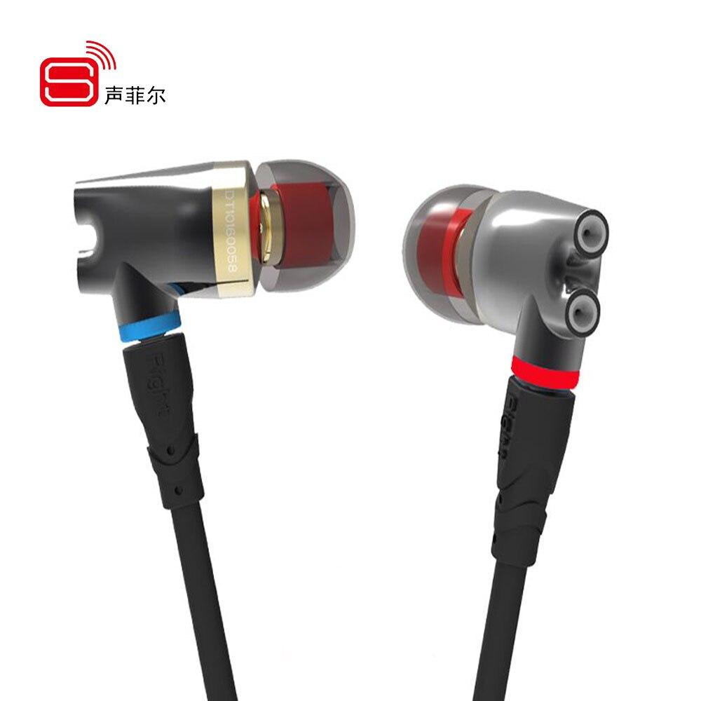 SENFER DT2 Plus Pro Updated Dynamic With 2BA + DD Hybrid Driver In Ear Earphone Ceramic IE800 HIFI Earplhone With MMCX Interface<br>
