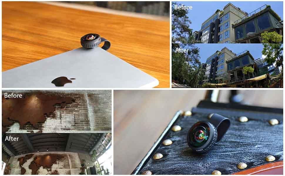 AUKEY Optic Pro Lens Super Wide Angle 238 Degree High Clarity telefon kamera lensi Camera Lens Kit for iPhone Android Smartphone 3