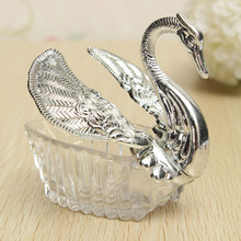 600pcs/lot Wedding Party Supplies Christmas Valentine's Celebration Gift Elegant Romantic Swan Candy Box Favours Decoration