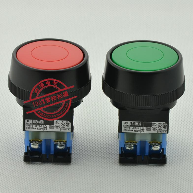 [ SA ]Fuji FUJI 30mm mushroom head push button switch with self-resetting iron retainer AR30M3R-10 * 1NO--10PCS/LOT<br><br>Aliexpress