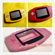 Hot Sale 3 pcs/lot Pink/Red/Yellow Color Housing Case for Gameboy Advance GBA Console Replacement Shell With Original Logo