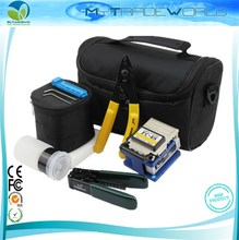 Fiber Optic Set Of Tools FTTH Splice Fibre Stripper + FC-6S Fiber Cleaver And Tools Bag Kit(China)
