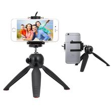 Steady Self-Tripod Clip Holder+Gopro Adapter Camera Photo YUNTENG Tripod For iPhone 5C 6S 7 PLUS Pro/For Meizu NOTE Smart Phones(China)