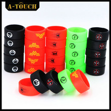 Buy 10pcs/slot Superman silicone rubber band vape ring Non Slip rubber mechanical mods decorative protection vape mod band for $5.79 in AliExpress store