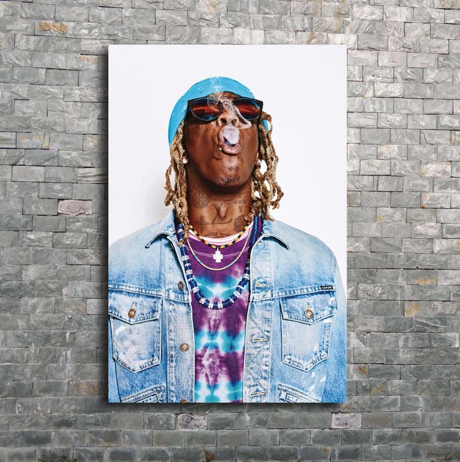 B-849 Playboi Carti Smoking Music Hip Hop Rap Singer Star 36 27x40 Fabric Poster