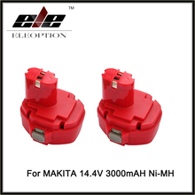 2 PCS Ni-MH 14.4v 3000mAh Replacement for MAKITA power tool battery 1433 1434 1435 1435F 192699-A 193158-3 ,for 1051D 1051DWD