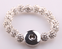 Free shipping New arrival white shamballa pave ball crystal metal Button Disco Balls Bracelet
